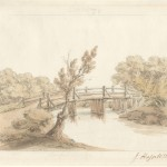 Watercolour of Durnford Bridge by John Hassell, 1824