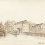 Watercolour of Durnford Mill by John Hassell, 1824