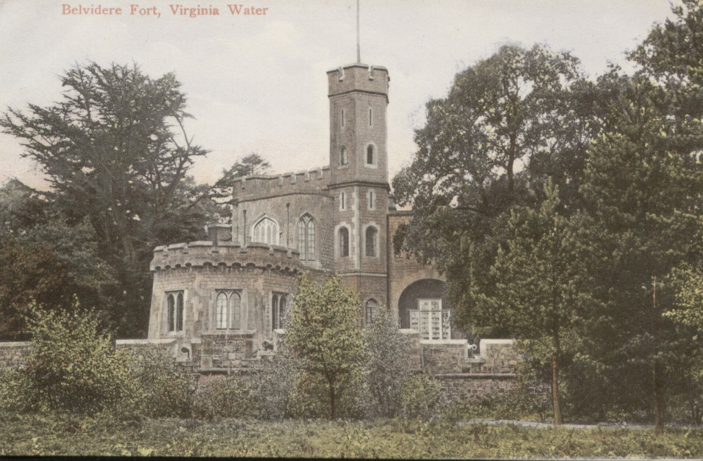 Colour postcard of Fort Belvedere, Shrubbs Hill, Virginia Water, 1900 - 1914
