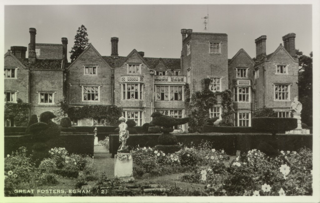 Photographic postcard of Great Fosters, early 1900s