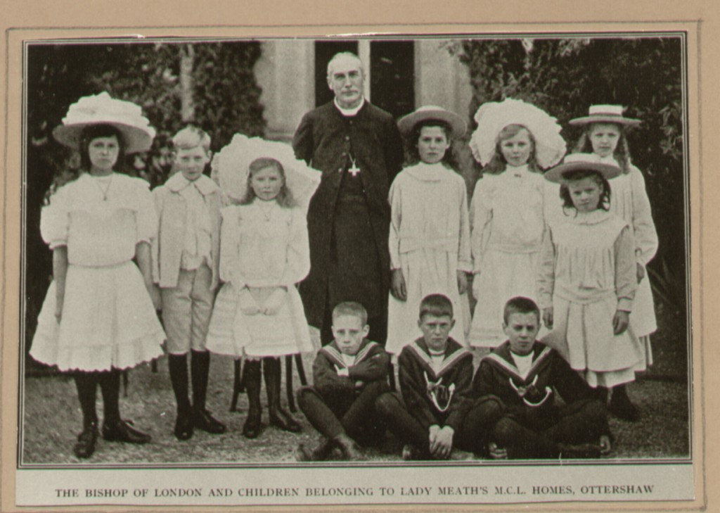 The Bishop of London and a group of children and from the Meath Homes, c. 1910