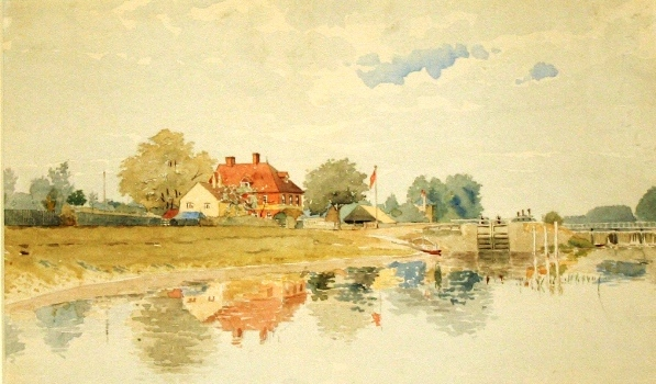 """The Anglers Rest, Bell Weir, Egham"" 1899"