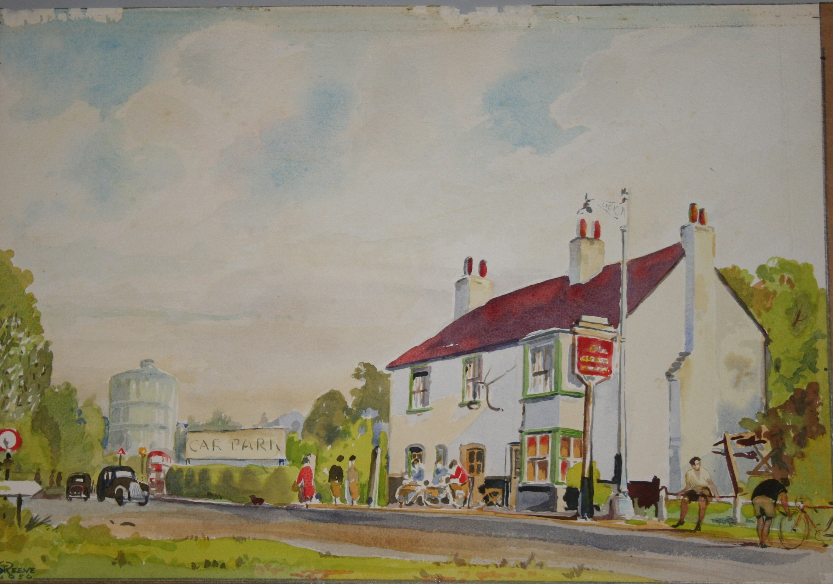 "The Coach and Horses"" inn at Egham by Stan T.Reeve, 1950"