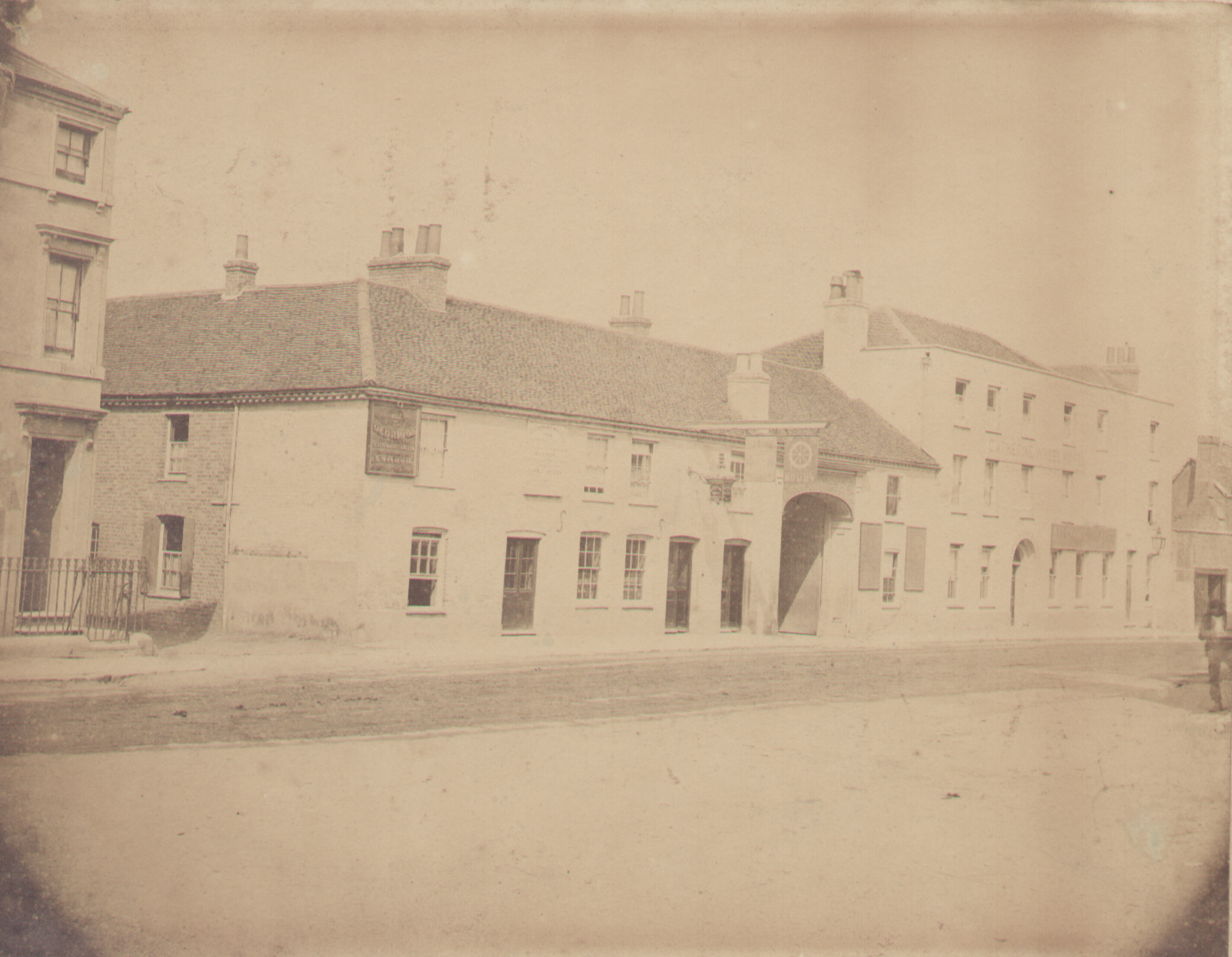 The Old Catherine Wheel pub in Hummer Lane, Egham, 1888-92